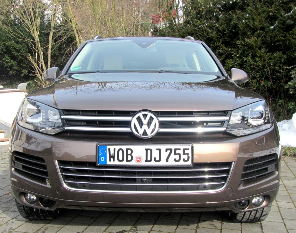 VW Touareg: Blick auf die Frontpartie.