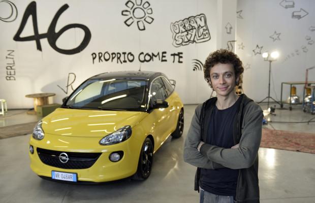 Valentino Rossi ist Markenbotschafter für Opel Adam