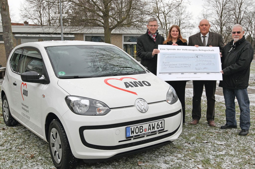 Volkswagen Mitarbeiter spenden an AWO-Kreisverband