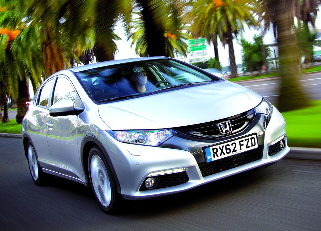 Zunächst fährt Hondas Civic mit dem neuen Turbodiesel vor.