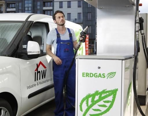Ausweitung des Tankstellennetzes für Erdgas