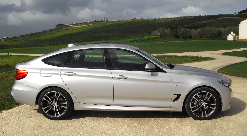 BMW 3er GT: Und so sieht das Kompaktmodell von der Seite aus.