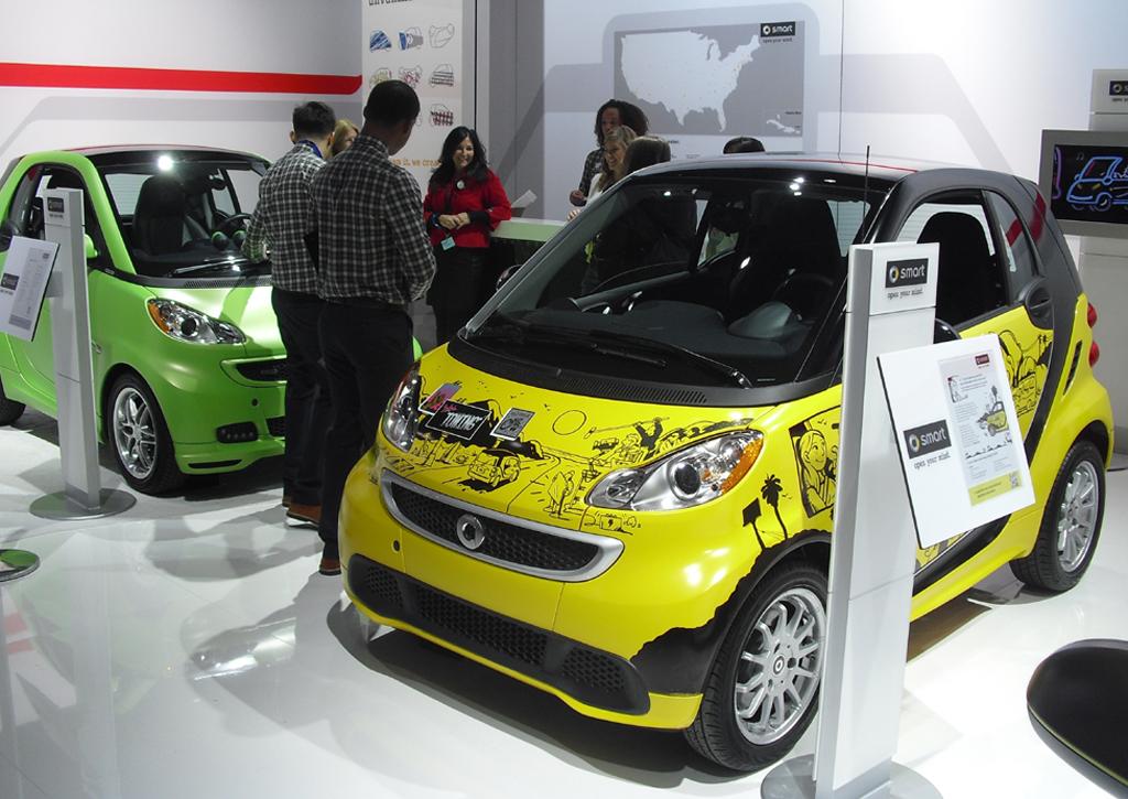 Die Kleinwagen-Tochter Smart darf in den USA ebenfalls nicht fehlen.