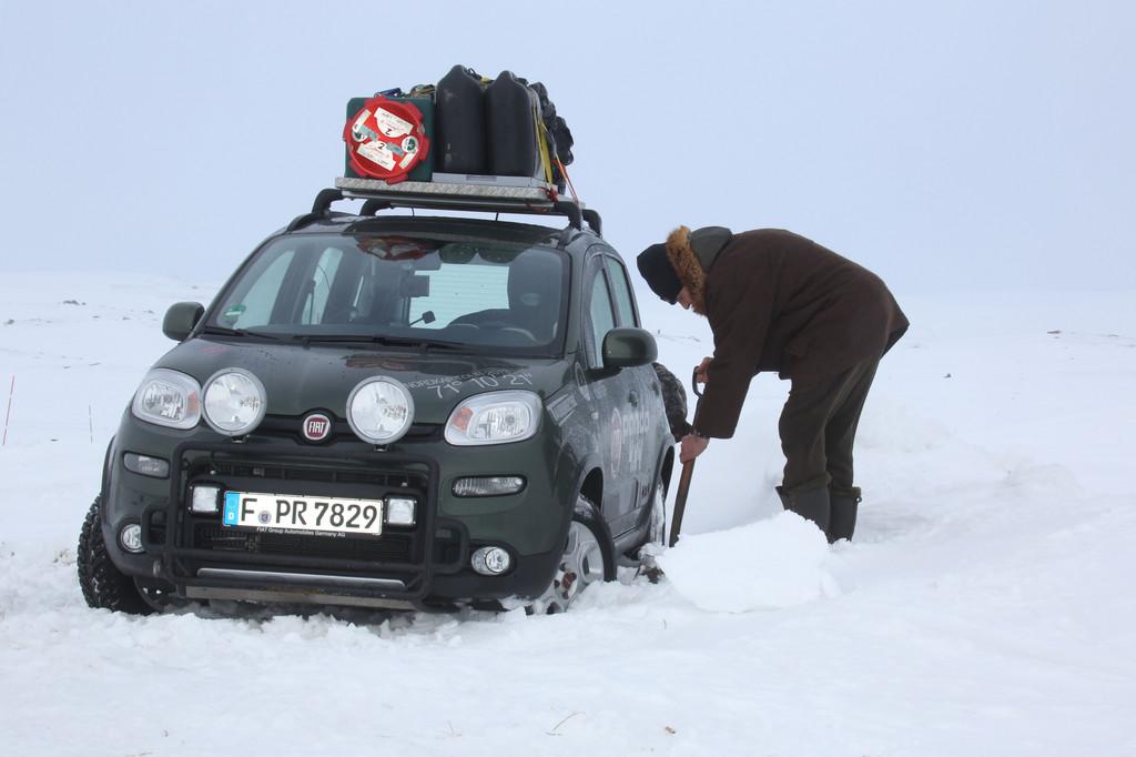Fiat Panda 4x4 kehrt vom Nordkap zurück