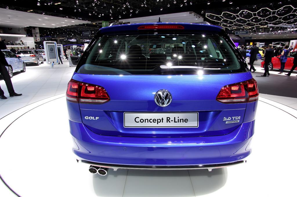 Genf 2013: Volkswagen zeigt erstmals R-Version des Golf Variant