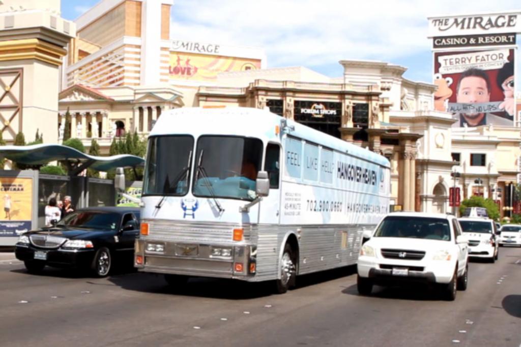 In Las Vegas findet der Kater-Bus ausreichend Kundschaft