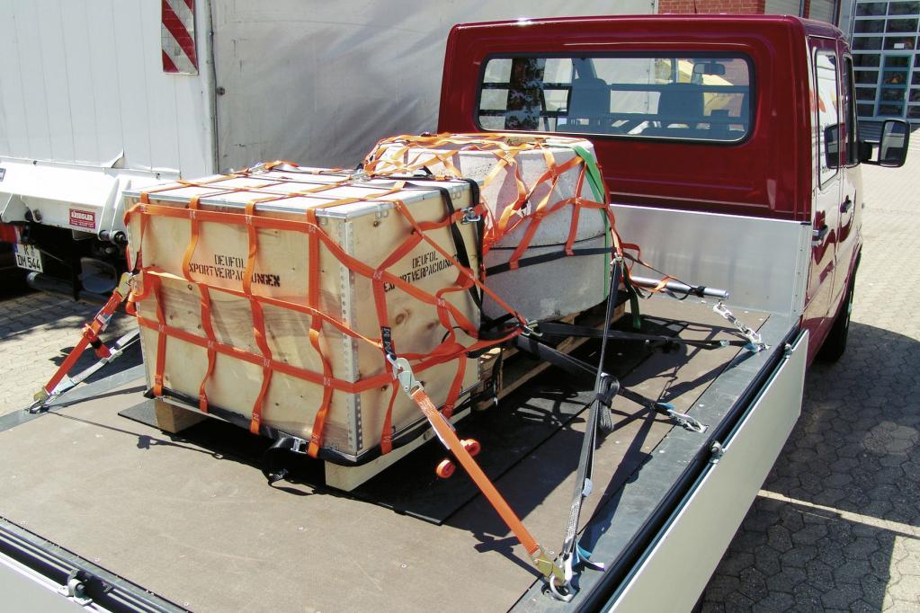 Ladungssicherung bei Lastwagen unzureichend