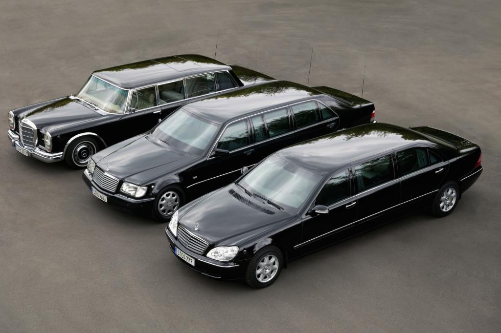 Mercedes-Benz Pullman Limousinen der Baureihe 100, 140 und 220