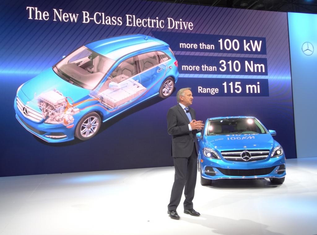 New York 2013: Mercedes-Benz B-Klasse Electric Drive ab 2014 in den USA