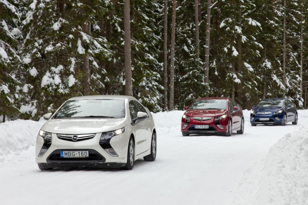 Opel Ampera - Wenn rechts und links die Ostsee knirscht