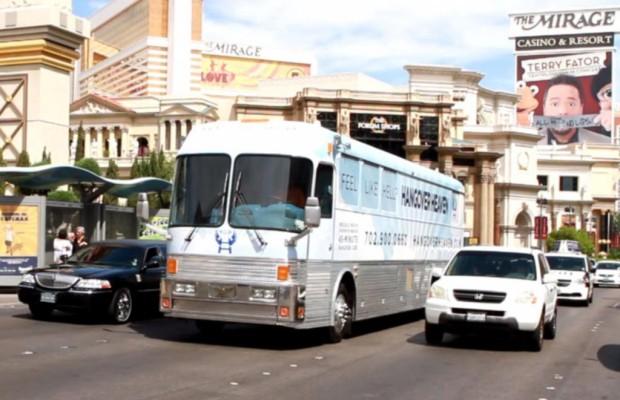 Panorama Hangover-Bus in Las Vegas - Shuttle der Schnapsleichen