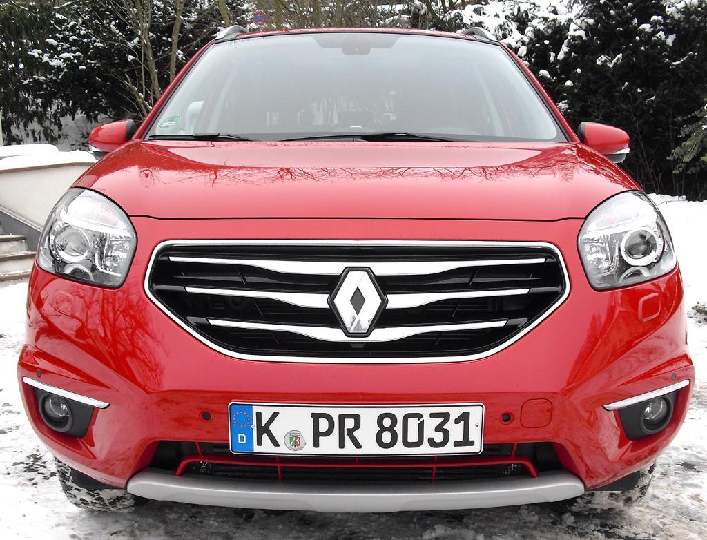 Renault Koleos: Blick auf die Frontpartie.