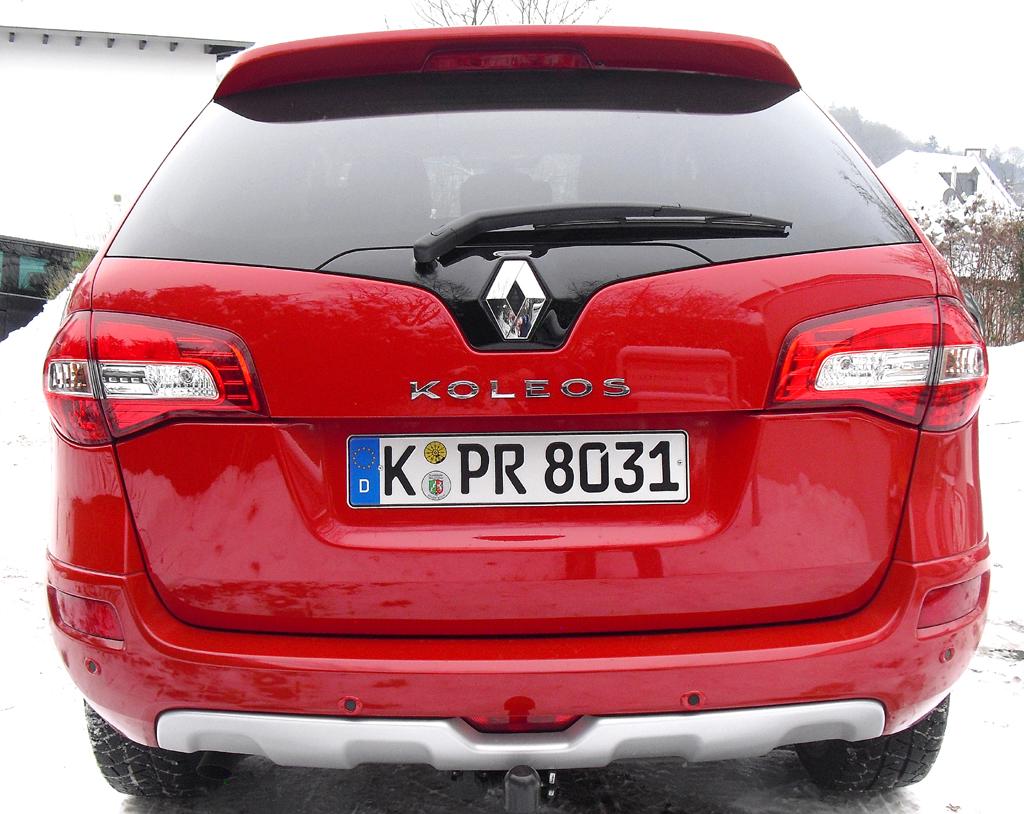 Renault Koleos: Blick auf die Heckpartie.