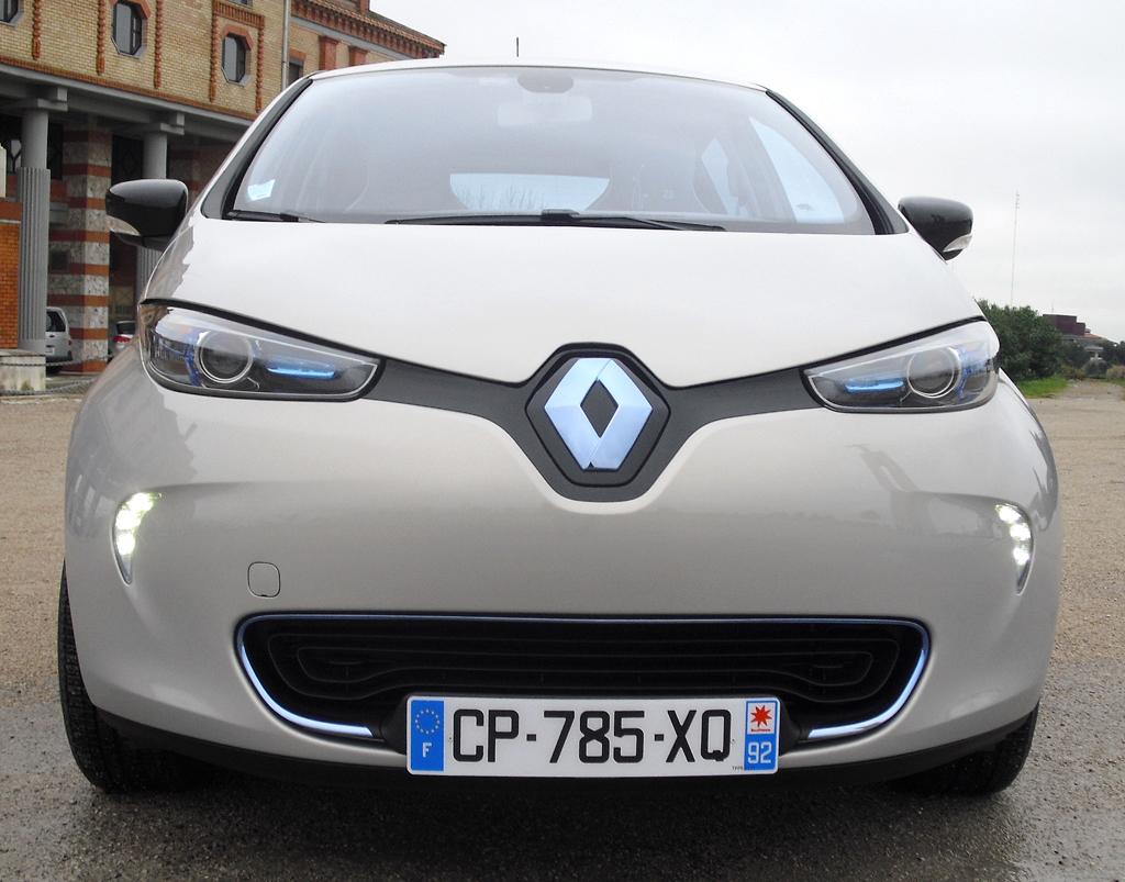 Renault Zoe: Blick auf die Frontpartie.