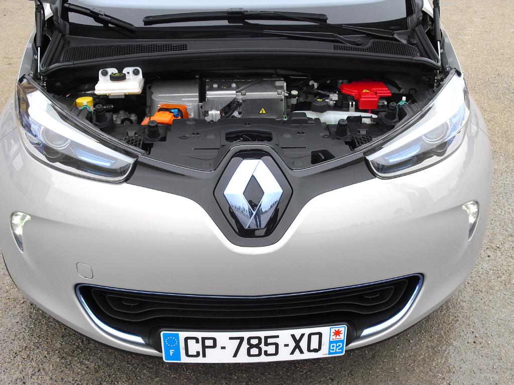 Renault Zoe: Blick unter die Haube des Elektroautos.