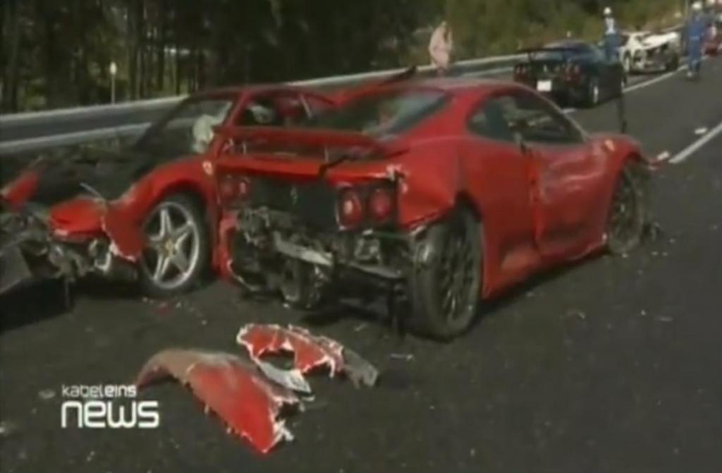 Teuerster Autounfall ever?