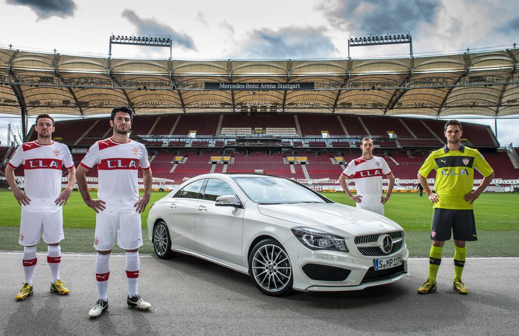 VfB Stuttgart trägt ab März Mercedes-Benz-CLA-Trikots