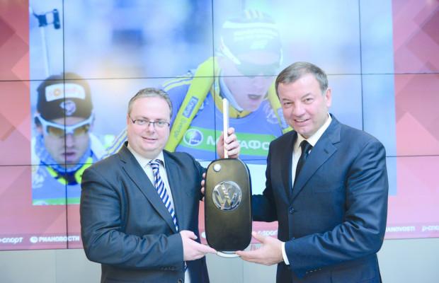 Volkswagen ist Partner der Russischen Biathlonunion