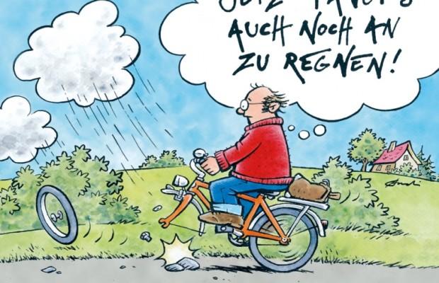 auto.de-Buchtipp: Jetzt fängts auch noch an zu regnen! – Fahrradcartoons