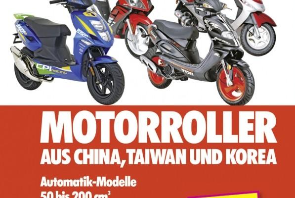 auto.de-Buchtipp: Motorroller aus China, Taiwan und Korea – Automatik-Modelle; 50 bis 200 ccm