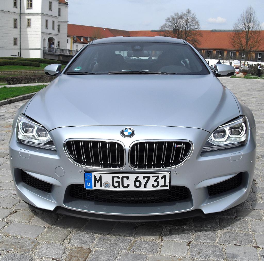BMW M6 Gran Coupé: Blick auf die Frontpartie.