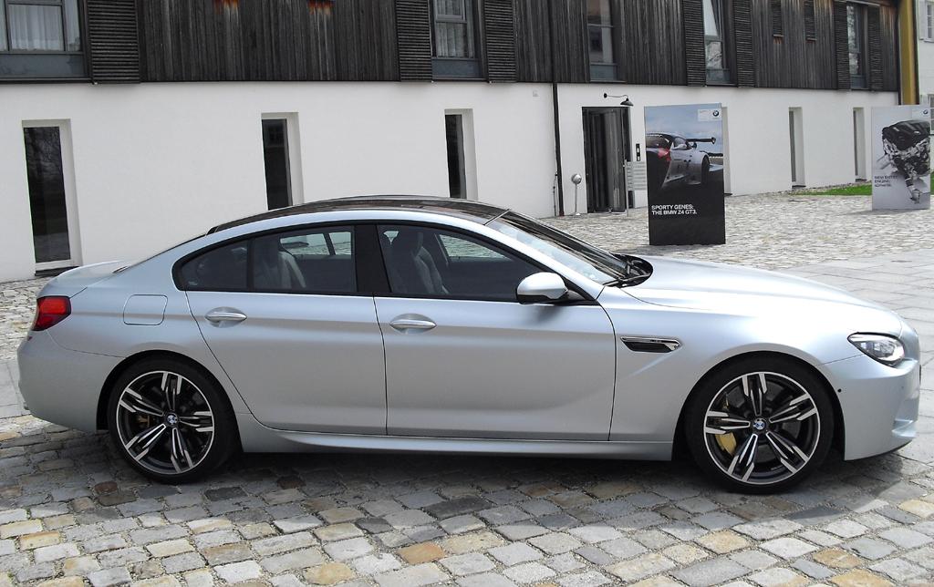 BMW M6 Gran Coupé: Und so sieht das viertürige Hochleistungscoupé von der Seite aus.