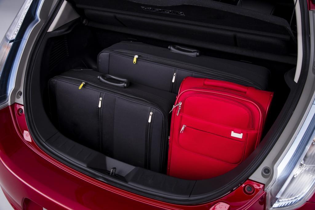 Die Spannung bleibt: der Nissan Leaf, hier der Kofferraum