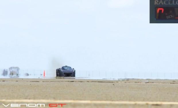 Hennessey Venom GT bricht
