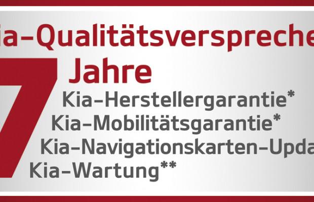 Kia bietet sieben Jahre Mobilitätsgarantie