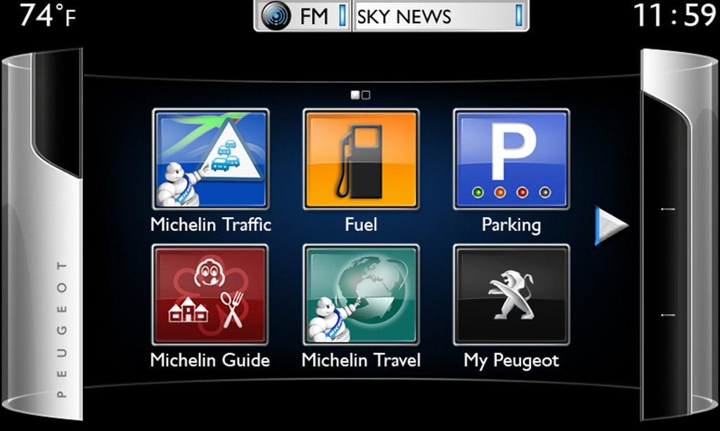 Peugeot Connect Apps mit Vertrag buchbar