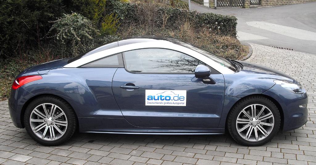 Peugeot RCZ: Und so sieht die flache französische Sportwagen-Flunder von der Seite aus.