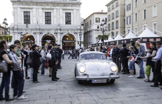 Stuck fährt Porsche 356 bei Mille Miglia