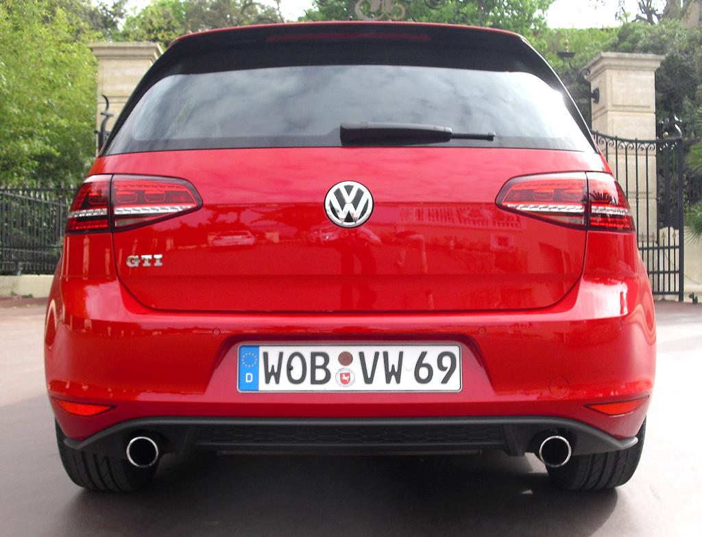 VW Golf GTI: Blick auf die Heckpartie.