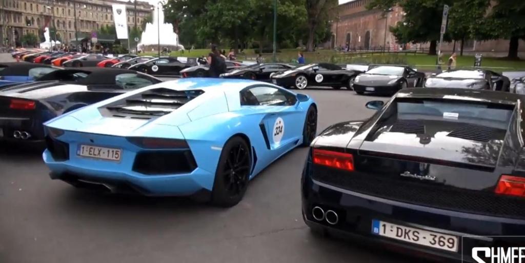 350 Lamborghinis zelebrieren den 50. Geburtstag der Marke