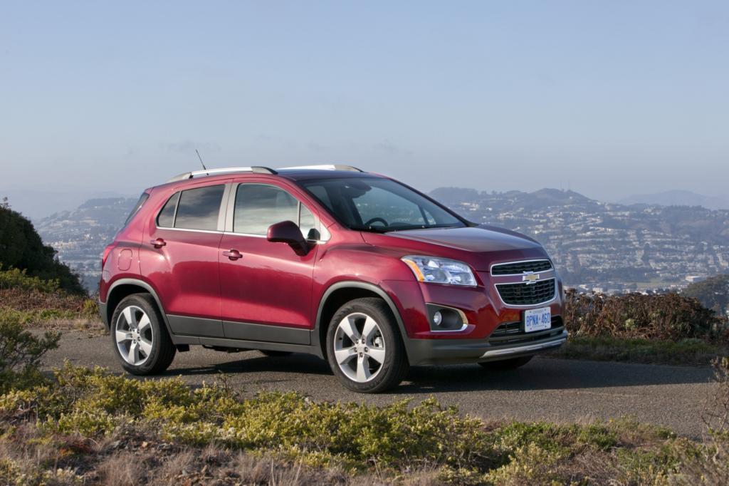 Am besten unter den vier getesteten Autos schloss der Chevrolet Trax beim Crashtest ab