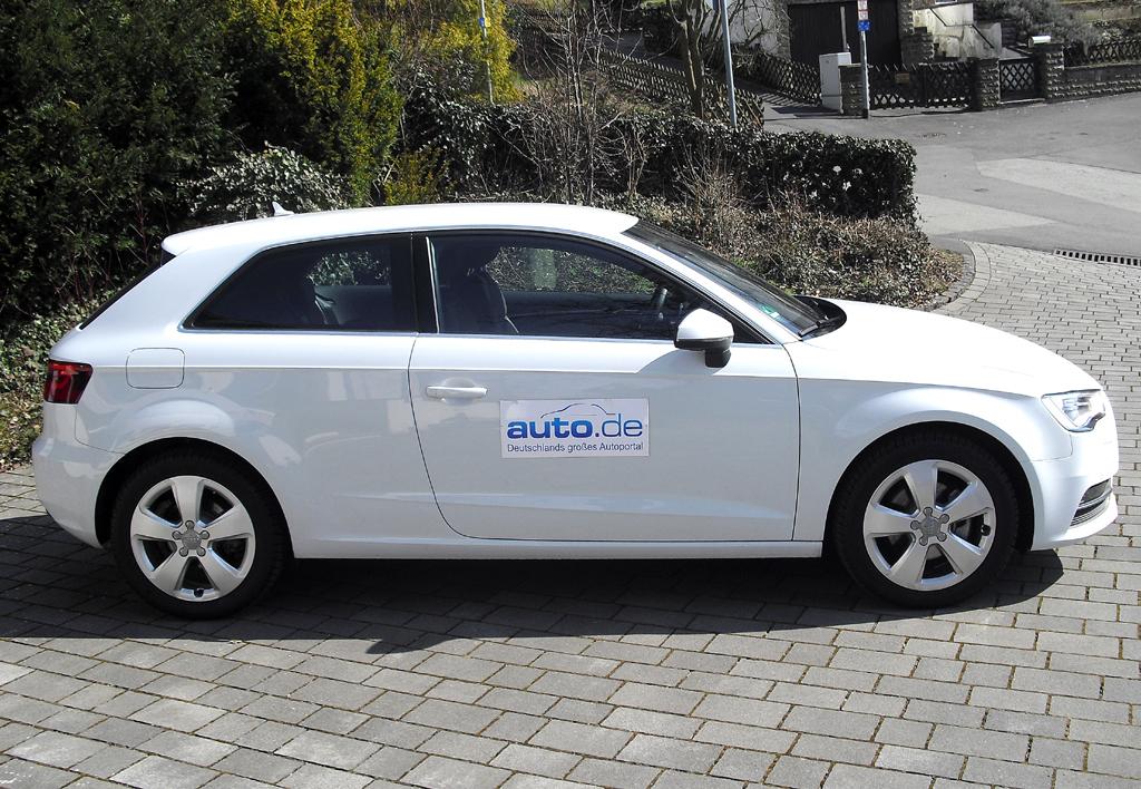 Audi A3: Und so sieht der Dreitürer von der Seite aus.