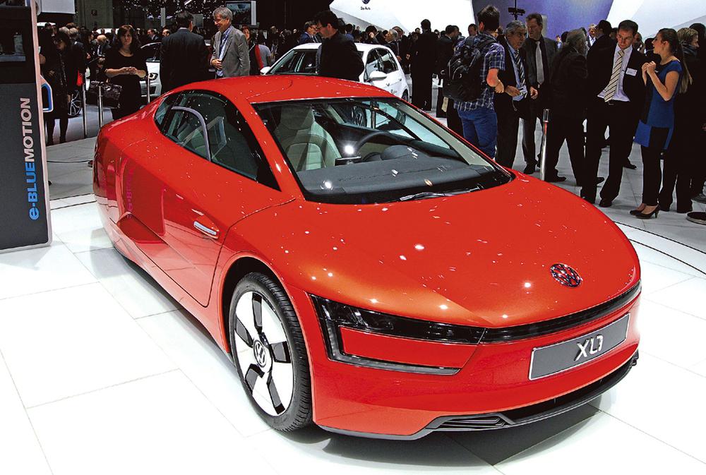 Auto der Zukunft mit Werkstoffen der Zukunft: VW-Hybrid XL1.