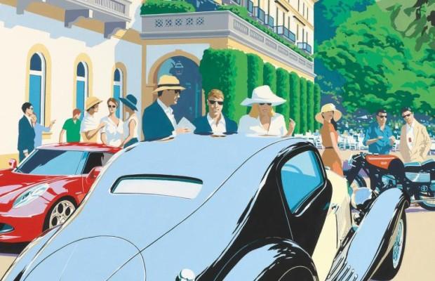 Automobile Vergangenheit und Zukunft feiern am Comer See