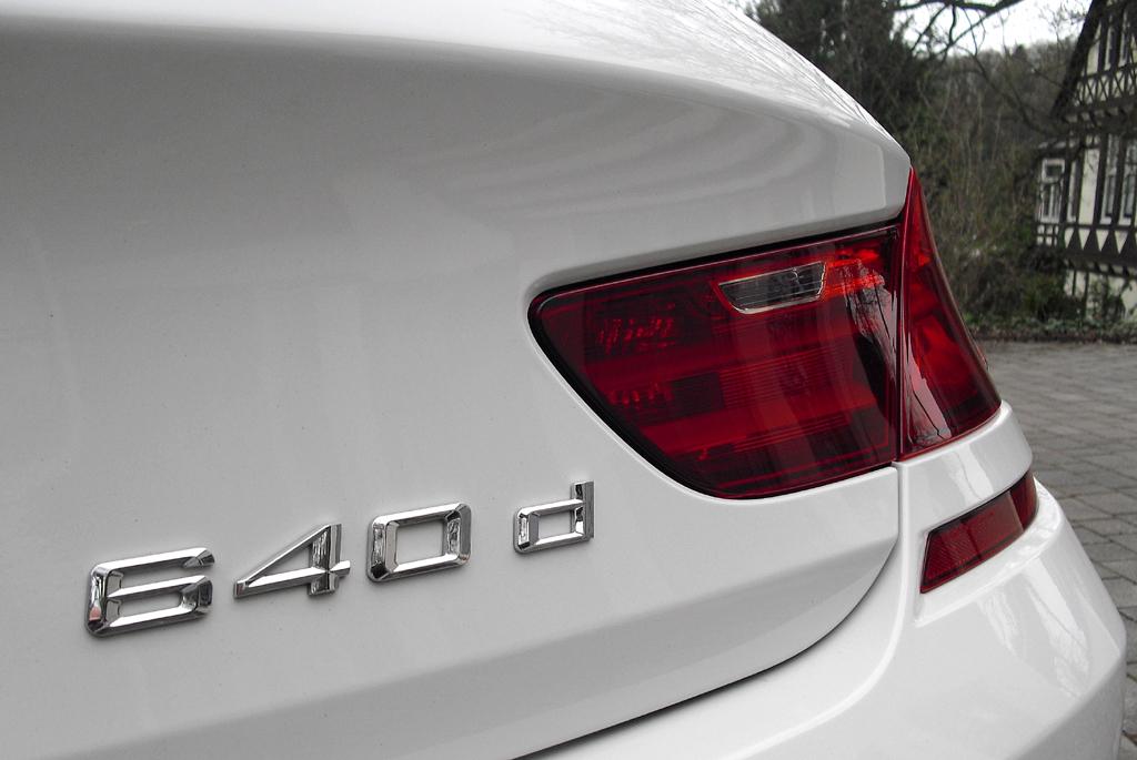BMW 6er Gran Coupé: Modellschriftzug am Heck.