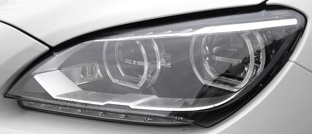 BMW 6er Gran Coupé: Moderne Leuchteinheit vorn.