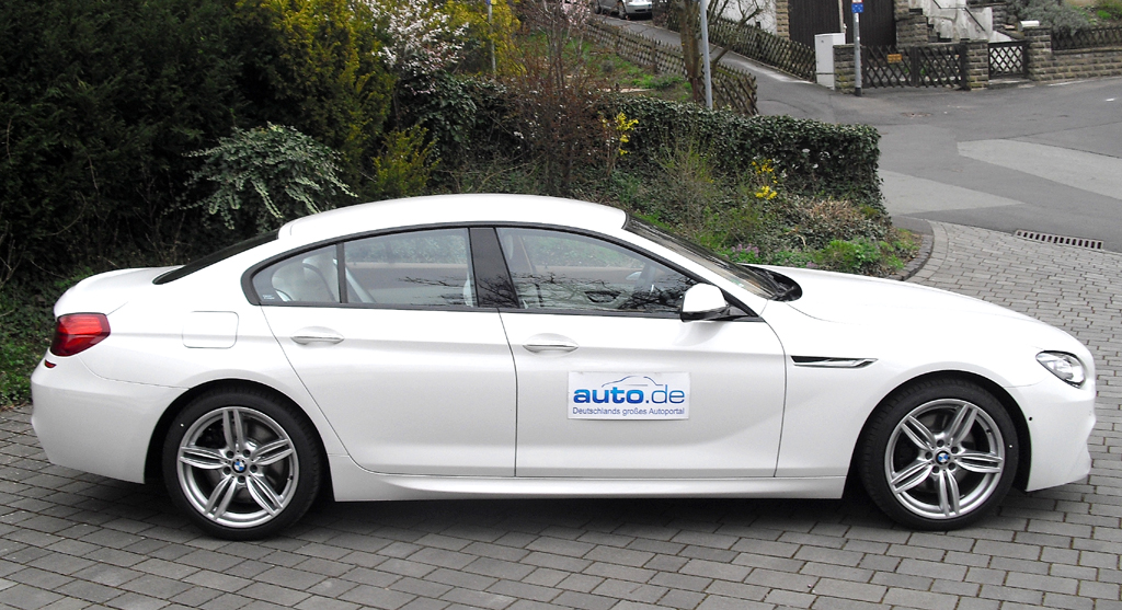 BMW 6er Gran Coupé: Und so sieht der formschöne Viertürer von der Seite aus.