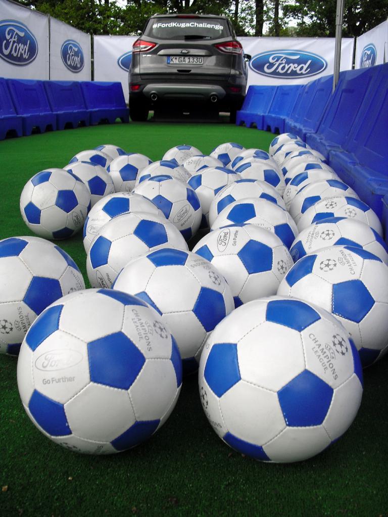 Das Champions-League-Finale nutzte auch Ford wieder zu fußballerischem Wettbewerb.
