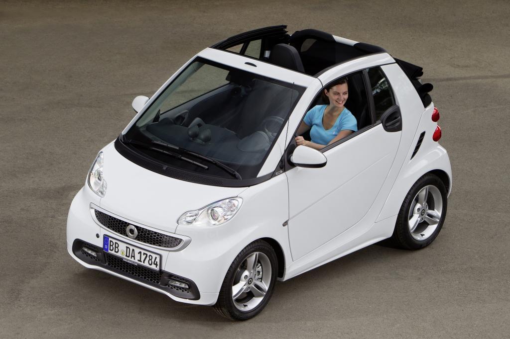 Das derzeit günstigste Frischluft-Fahrzeug  ist das Smart Fortwo Cabrio