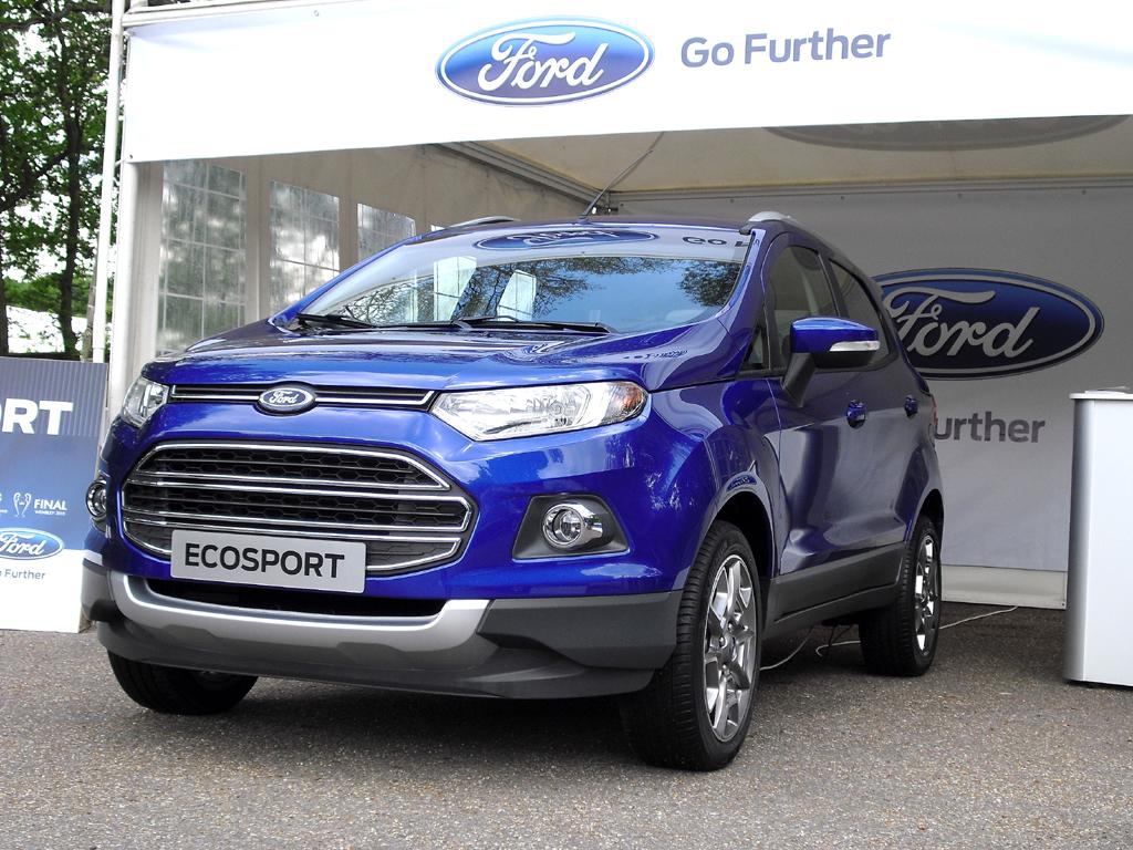 Das neue Kompakt-SUV-Modell Ford EcoSport durfte da natürlich nicht fehlen.