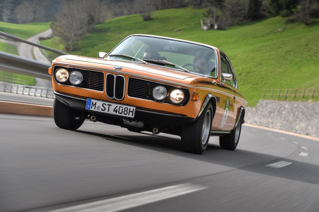 Der BMW E9 machte rund um den Bodensee eine gute Figur
