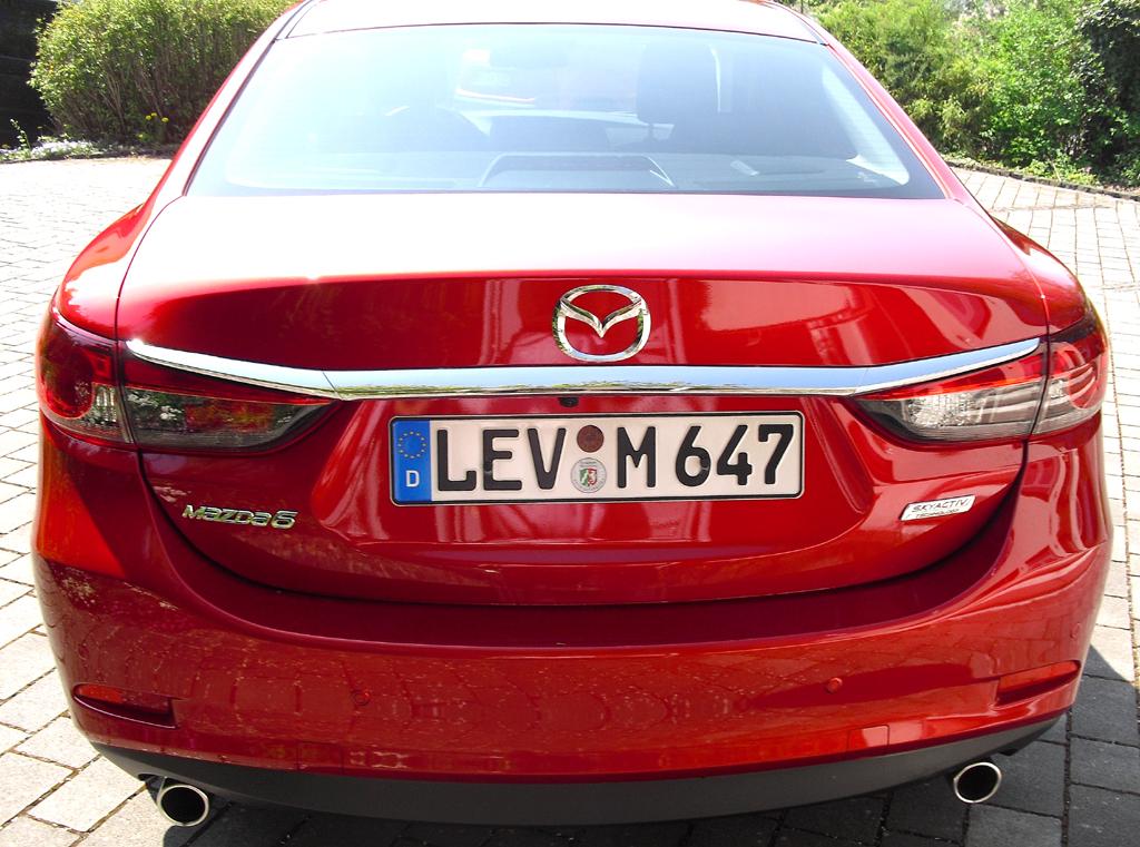 Mazda6: Blick auf die Heckpartie.
