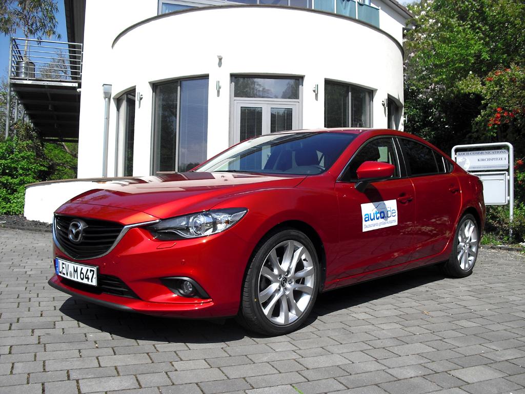 Mazda6, hier als stärkste Diesel-Limousine mit 129/175 kW/PS. Fotos: Koch