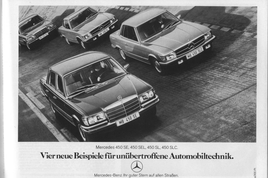 Mercedes Benz 450 SE, 450 SEL, 450 SL und 450 SLC 1973