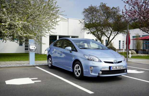 Strom-Parkplätze bei Toyota Deutschland