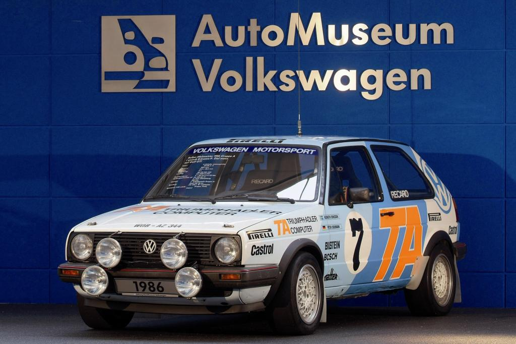 Volkswagen Golf Sieger Rallye WM Gruppe 1986